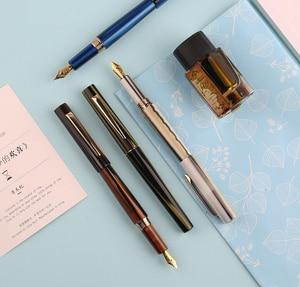 Image 5 - Перьевая ручка Moonman N3 Celluloid, акриловая ручка с красивыми полосками, перьевая ручка Iridium EF/F, Отличная офисная ручка для письма, подарочная ручка с чернилами
