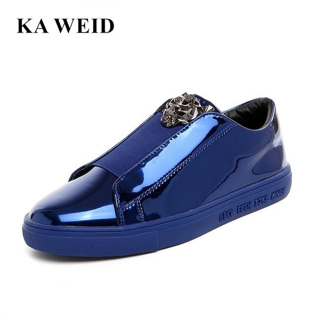 e274a8b9e46976 2017 Designer Version luxe marque chaussures décontractées hommes sans  lacet mocassins métal signe Versa homme chaussures