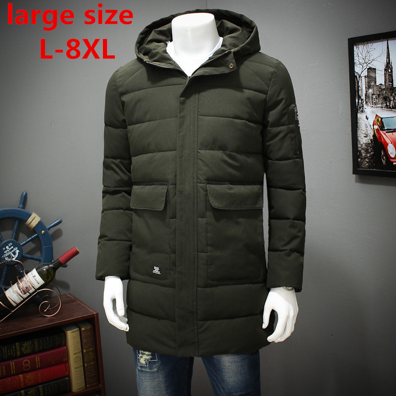 2017 new large size Winter Jacket Men Casual Parka Jacket Thick Men Hooded Warm Men's Coats and Jackets Fashion overcoats Hommer