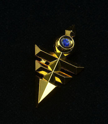 8pcs/box Yu Gi Oh necklace keychains pendant toy Yu-Gi-Oh! Millenium emperors cosplay key Triangle logo alloy pendant gift