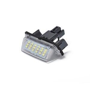 Image 5 - HA CONDOTTO Le Lampadine Per Auto Sostituzione Diretta Di Bianco 2X 18LED Illumina Lastre di Licenza Per Toyota Yaris Accessori Auto