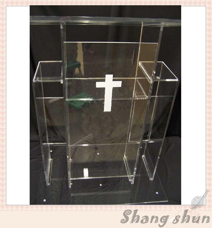 Clear Transparent Acrylic Lectern Clear Acrylic Church Podium Acrylic Pulpit Furniture Lectern Podium clear