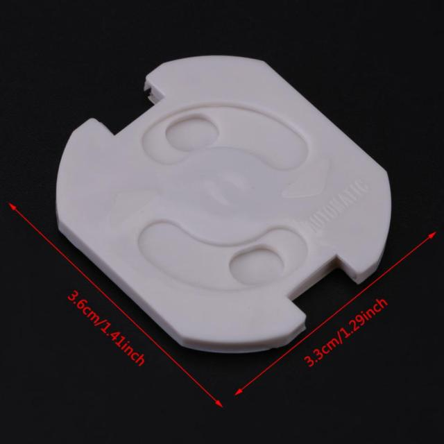 10Pcs EU Socket Safety Plug Protector Electrical Outlet Baby Kids Safety Guard Anti Electric Shock  EU Plug Rotated Socket Cover