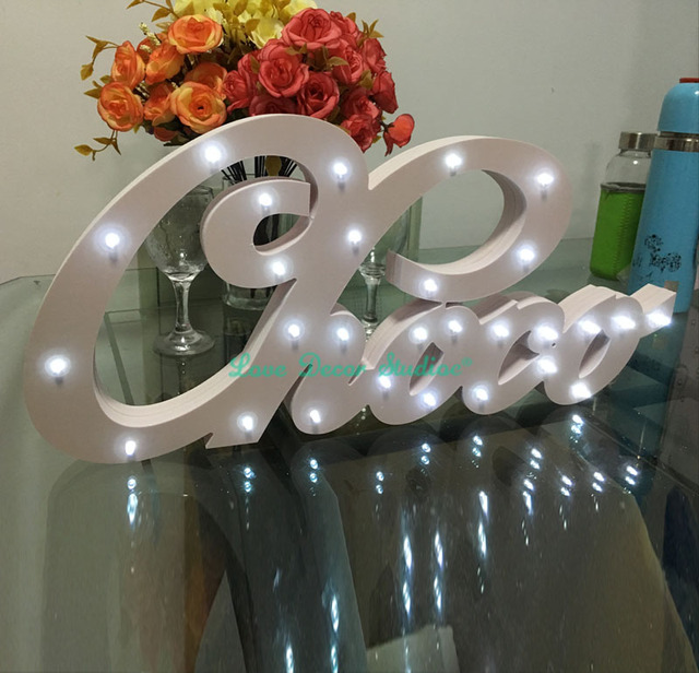 Bespoke Wit luxe gift Licht up letters bespoke light up naam ...