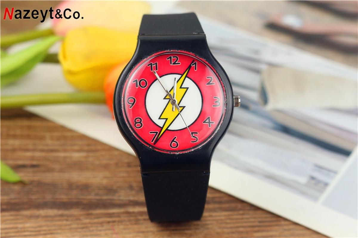New Silica Gel Flash Watch Children's Cartoon Boy Quartz Wristwatch Boys Watch