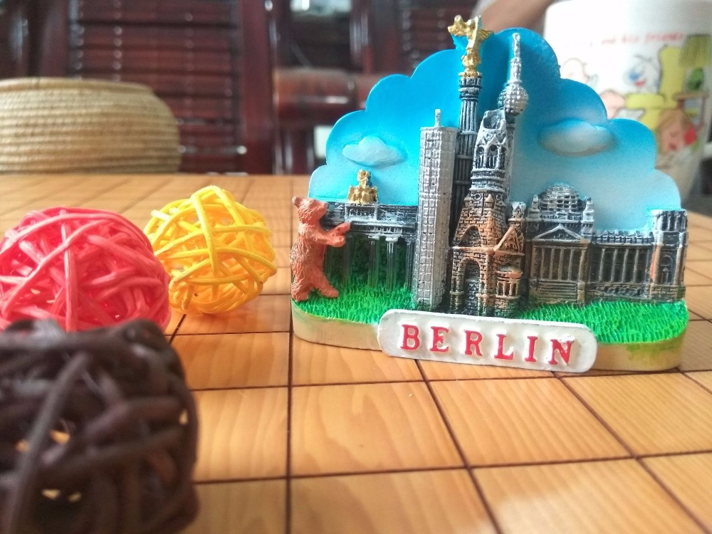 Berlin Germany architectural souvenirs refrigerator stickers in Fridge Magnets from Home Garden