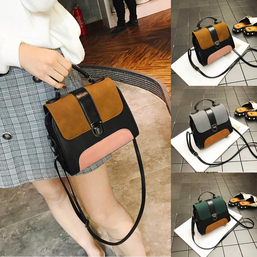Molave Shoulder Bag new high quality Leather Girl Fashion Patchwork Buckle Crossbody Patchwork Hasp shoulder bag women AP3