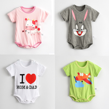 Baby boys girls rompers short sleeve infant jumpsuits summer kids clothing sets cartoon newborn baby clothes.jpg 350x350