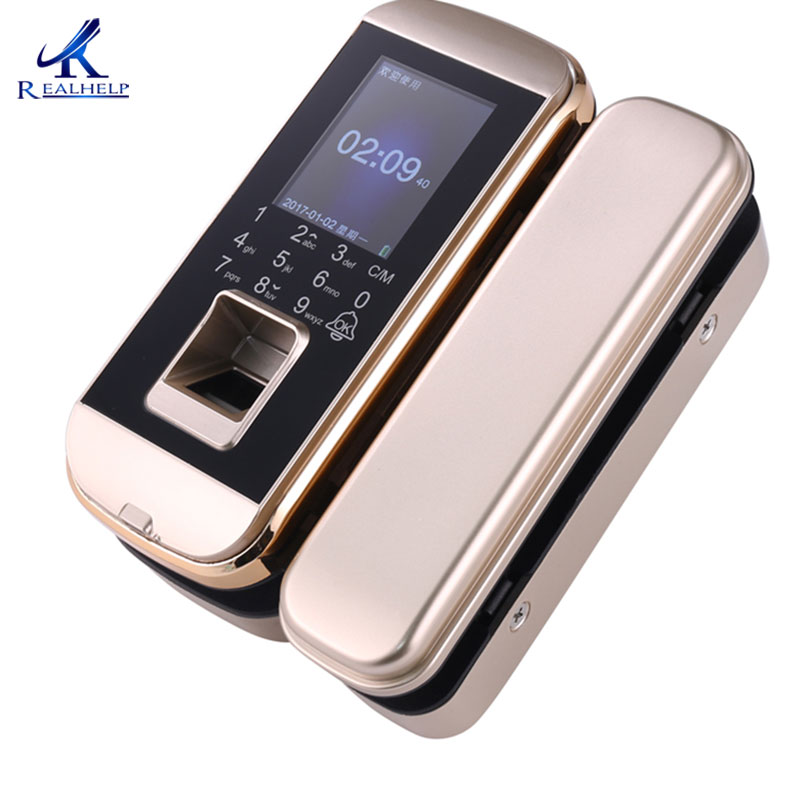 Biometric Fingerprint Lock Double Single Glass Doors Employee Time Attendance Swipe Card Machine Keyless Office Security
