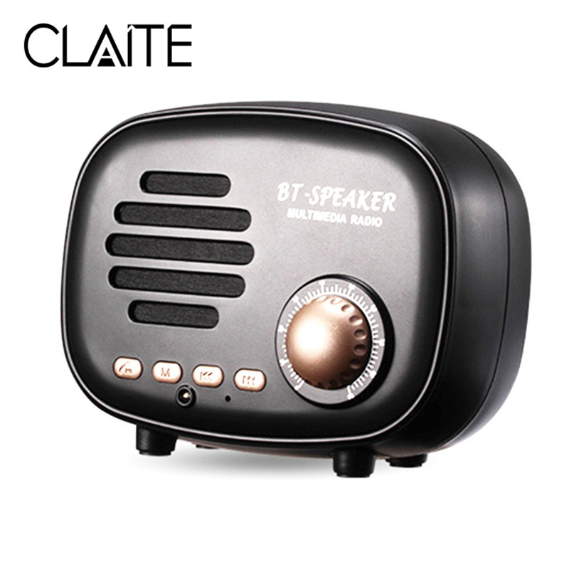 CLAITE Mini Portable Wireless Bluetooth Speaker FM Radio bluetooth 4.1 Build in Microphone TF Handfree Smart Speakers