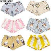 INS Baby Girls Shorts Without Headband Cat Europen American PP Shorts Pants Boys Bear Birds Pattern