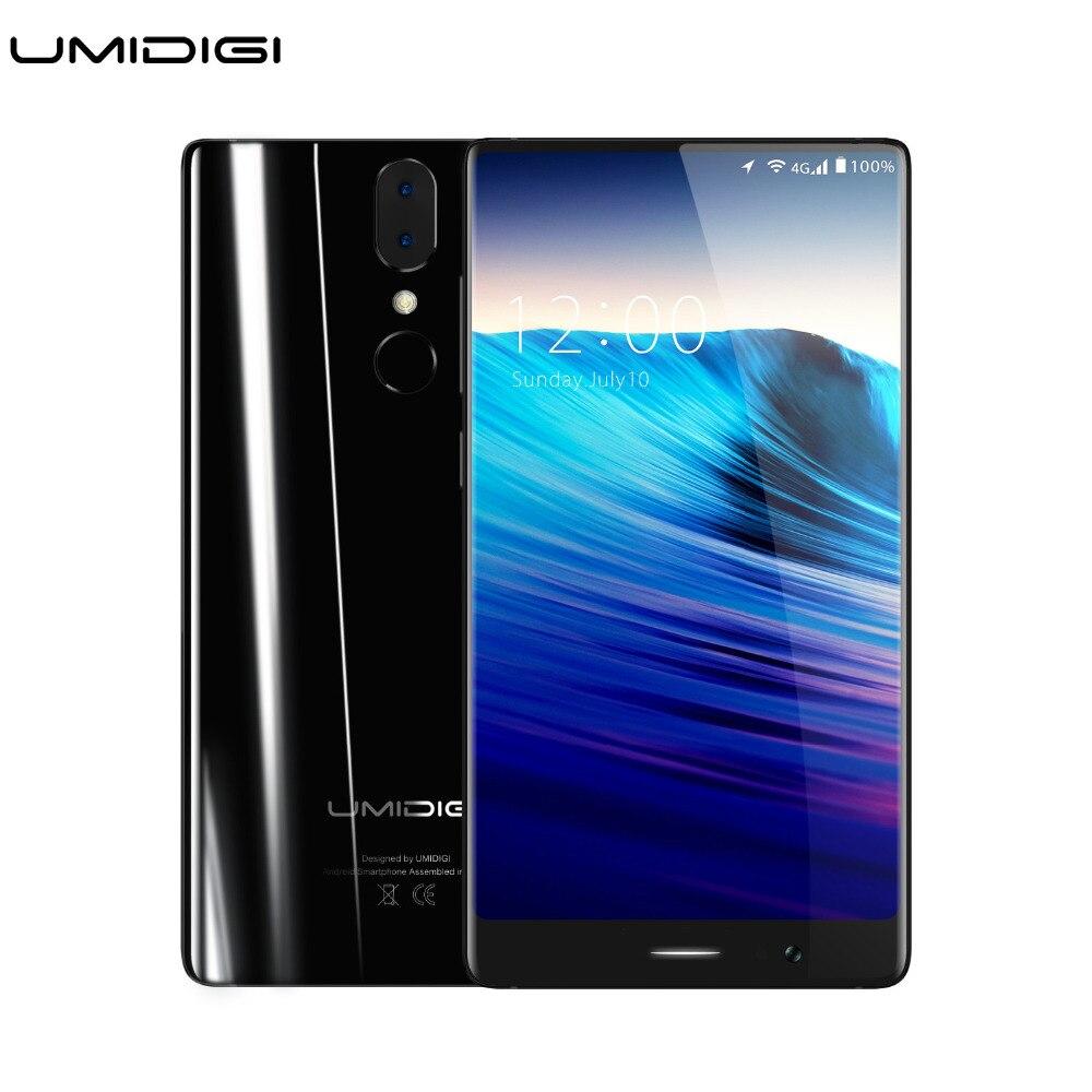 bilder für Umidigi Kristall Randlos Smartpone MTK6750T octa-core 4 GB RAM 64 GB ROM Metall Lünette-weniger Rahmenlose Android Handy