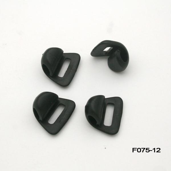 Wholesale Free shipping 200pcs 12mm black plastic POM shoe buckles shoe Accessories Shoe Decorations 10/12mm F075-12