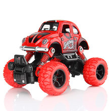 1PC Kids Toy Vehicles Pull Back Blaze Truck Monster Truck Baby Boys Super Racing Cars Children Gift Toys Bus Open The Door(China)