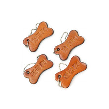 Spot personality brown leather pet bead curtain listing adult training dog brand key accessories sex toys