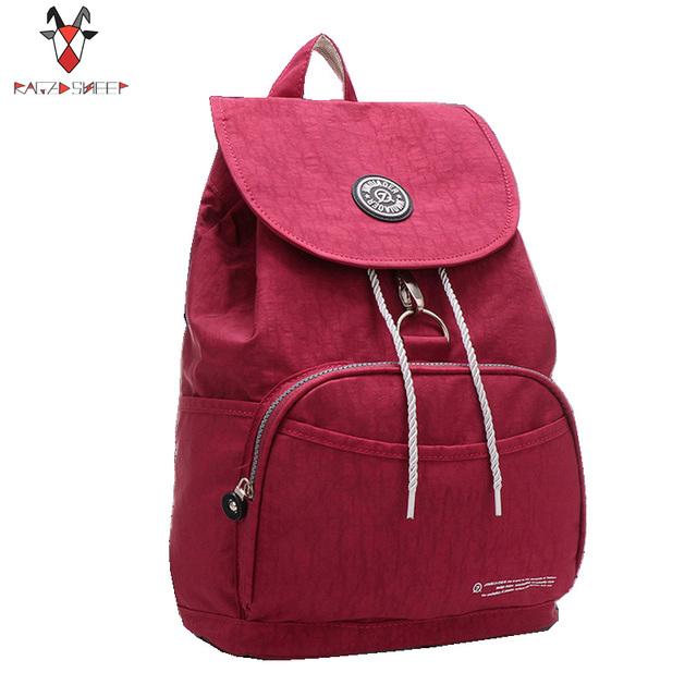 Mulheres mochila estilo preppy mochilas escolares Causal bolsa de viagem À Prova D' Água Mochila de Nylon 10 Cores