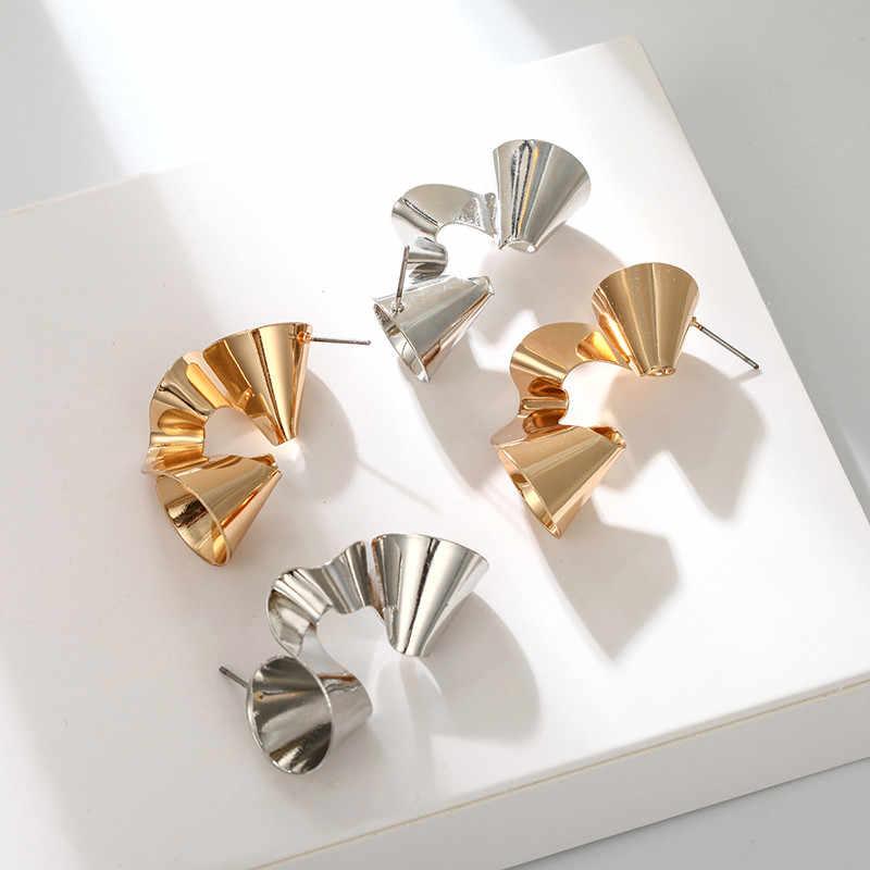 הודי עגילי בוהמי הצהרת תכשיטי כסף זהב סדיר עגילים לנשים מוגזמת Brincos ייחודי עיצוב Pendientes