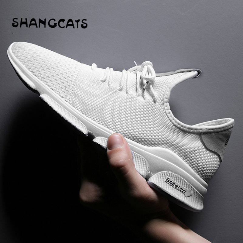 Summer White Shoes Men Chaussure Homme