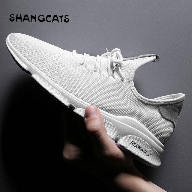 super popular 1d061 7b9f9 Zapatos blancos de verano hombres Chaussure Homme hombres zapatos casuales  Snekers hombres zapatos sin cordones Zapatillas Hombre tenis masculino ...