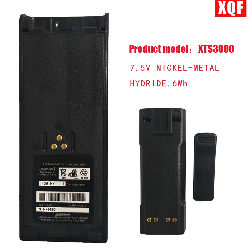 XQF 7.5V NICKEL-METAL HYDRIDE Battery For Motorola Ht1000 Mt2000 Mts2000 Gp900 Gp1200 Gp2013 Ht1000 Ht6000 Radio With Belt Clip