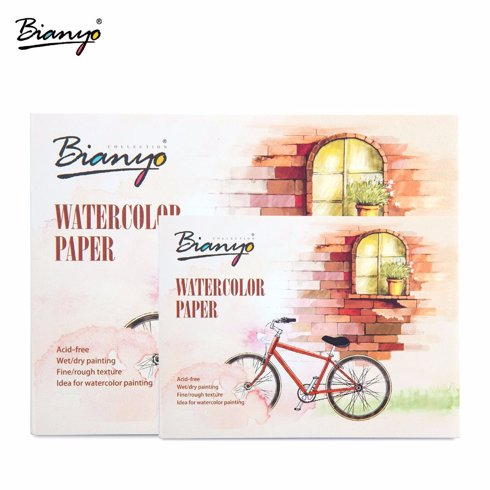 Bianyo 230gsm A5 A6 12 Sheets Watercolor Paper Sketch Book For Drawing Painting Art Supplies professional painting paper 160g a4 drawing paper blank sketch 24 sheets office school supplies painting art supplies ass034