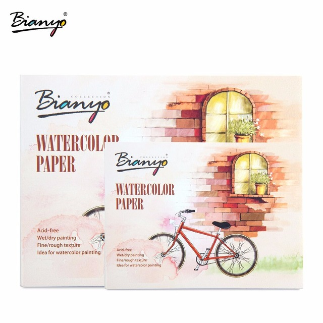 bianyo 230gsm a5 a6 12 sheets watercolor paper sketch book for drawing painting art supplies