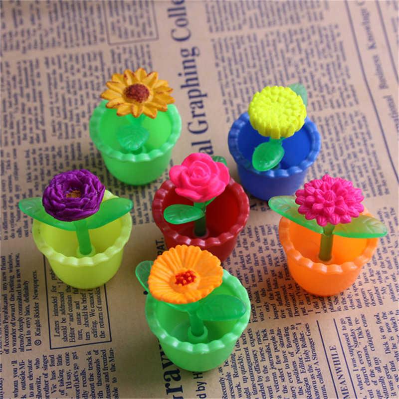 クリエイティブカラフルなパズル魔法のおもちゃ装飾女の子キッズ成長で水バルク膨潤花とポット各種拡張おもちゃ