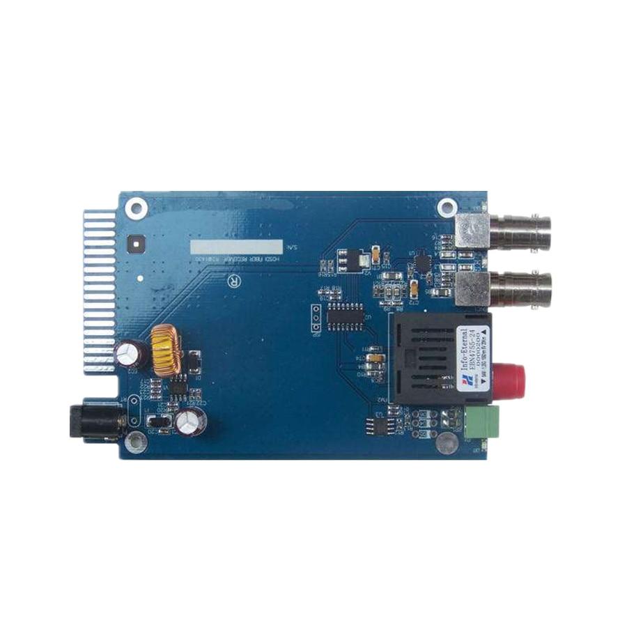 HD SDI Optical Transceiver Fiber Media Converter With RS485 Data BNC Fiber Optic To SDI Video Transmitter Receiver (2 x SDI Out)