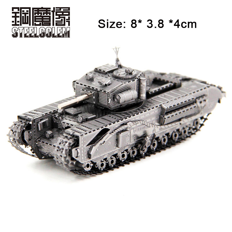 ₩Churchill Tank Stainless Steel Metal Nano-dimensional Puzzle ...