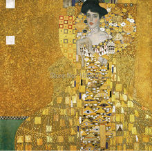 Superb Skilled Painter Team 100%Hand-painted Reproduction Gustav Klimt Portrait of Adele Bloch-Bauer Oil Painting On Canvas