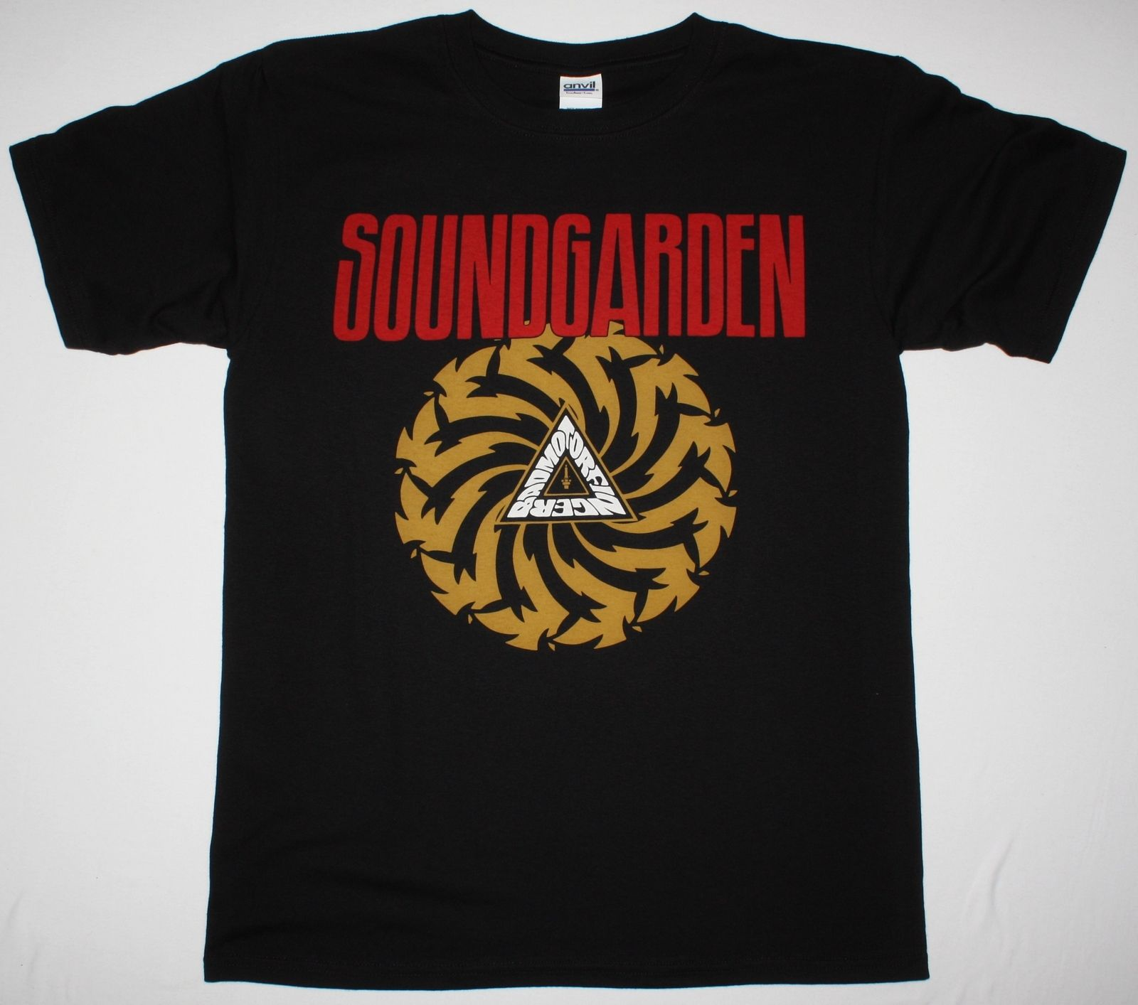 Soundgarden badmotorfinger 39 92 audioslave grunerge seattle band new black t shirt cheap crew neck for The garden band merch