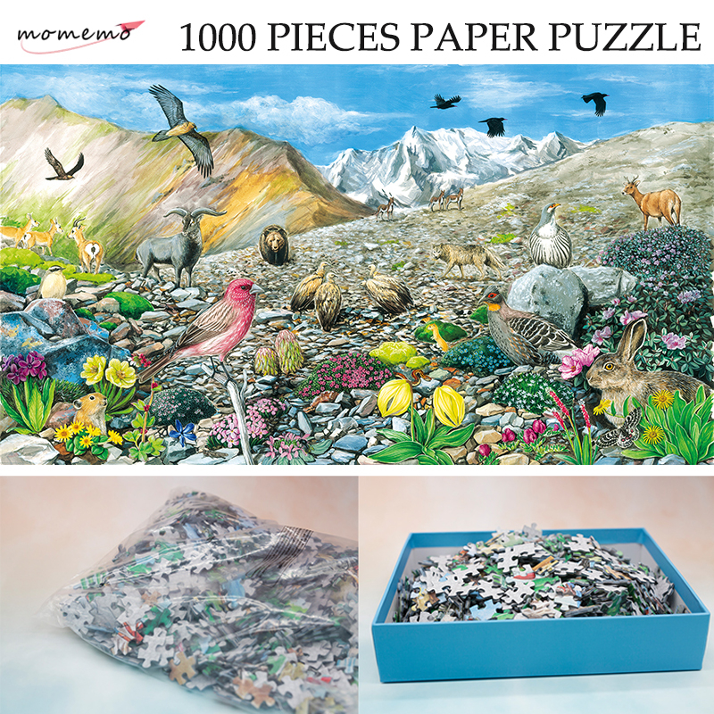 MOMEMO The Alpine Talus Zones Puzzle 1000 Pieces Paper Ecosystem Jigsaw Puzzle Original Exquisite Hand-painted Puzzles for Kids