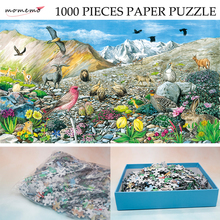 MOMEMO The Alpine Talus Zones Puzzle 1000 Pieces Paper Ecosystem Jigsaw Original Exquisite Hand-painted Puzzles for Kids