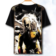 ONE PUNCH MAN T shirt Anime Saitama  Genos Cosplay costume Fashion Men Tops Tees