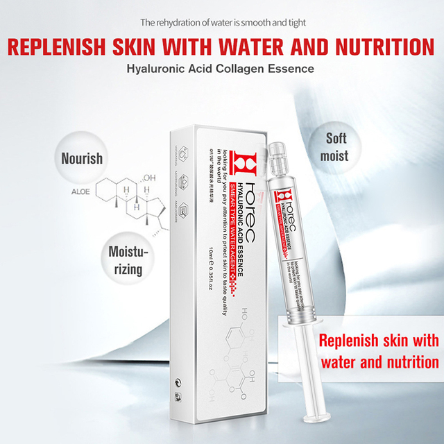 ROREC Hyaluronic Acid Injection Face Serum Liquid Tights Anti-Wrinkle Anti Aging Collagen Facail Essence Moisturizing Whitening