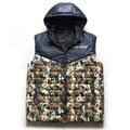 Free shipping Plus size men's clothing european version fat guy 6xl 7xl8xl Camouflage clip cotton vest waistcoat chest 155 cm