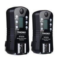 1 para PYONGNUO oryginalny RF 605N RF 605 RF605 bezprzewodowa lampa błyskowa wyzwalania z LCD do Nik D7100 D7000 D5200 D5100 D5000 D3200 D3100 w Lampy błyskowe od Elektronika użytkowa na