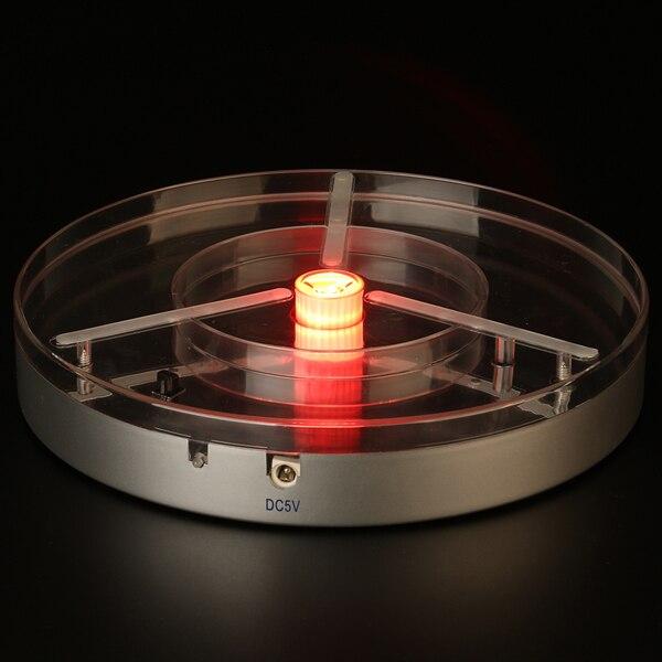 8inch led light base red