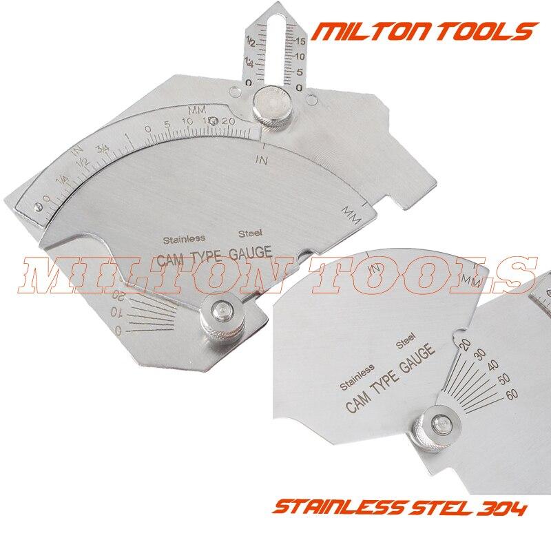 MG-8 Welding Cam Gauge Gage C50 Test Ulnar For Welder Inspection 50mm SS Metal