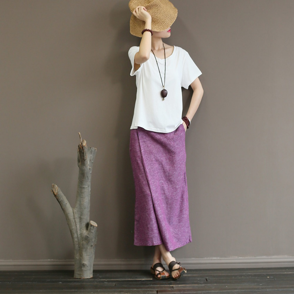 2018 Loose Cotton Linen   Wide     Leg     Pants   Summer Fall Elegant Solid Mid Waist Vintage Skirt Palazzo   Pants   Women Plain Long Trousers