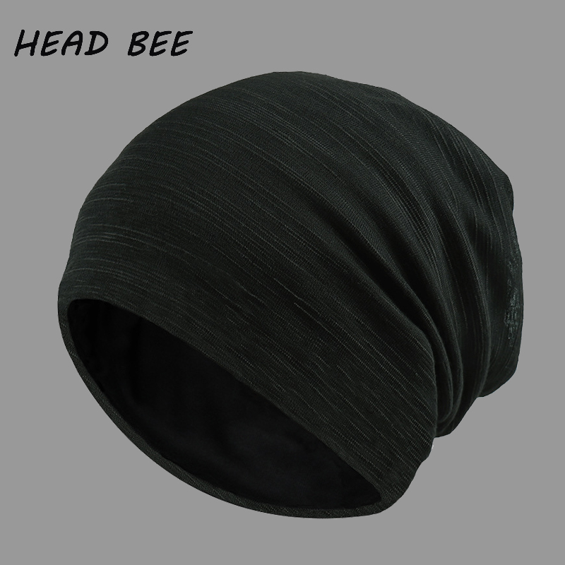 [HEAD BEE] Brand Beanies Hat Wool Warm Winter Cap Ladies Stripe Knitted Hat Adult Skullies Bonnet Hat for Men animal printing new plus side men and women with the double layer of warm ladies pile heap cap skullies hat knitted hat stripe