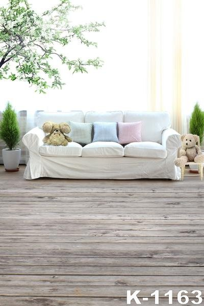 Photo Studio For Children And Wedding Photography Background 5x7ft bokeh backdrop Living Room White Sofa Props Wooden Background 5 x 7 ft pink love hearts print photo backdrop for wedding party portrait photography studio background s 1305