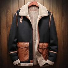 Autumn and Winter Season Mens Faux Fur Leather Jacket Coats Plus Size Automotive Overcoats Velvet