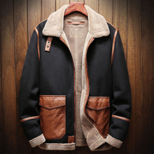 Осень-зима сезон мужская кожаная куртка из искусственного меха пальто плюс Размеры 5XL мужские пальто из искусственного меха автомобильной пальто бархат A173