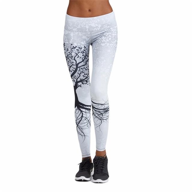 b25ae6c7c77f1 Yoga Pants Bodybuilding Women Jogging Pants Quick-drying Sports Tights  Running Gym Printing Leggings Elastic Fitness Trousers