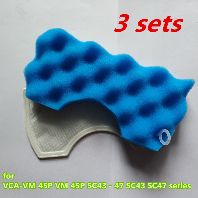 3 sets of robots vacuum cleaner parts Suitable for Samsung VCA-VM 45P VM 45P SC43 - 47 SC43 SC47 series HEPA filter цены онлайн