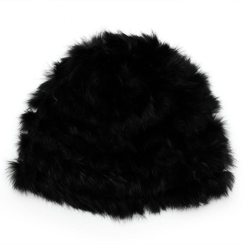 Fashion Casual Russian Lady Rabbit Fur Knitted Cap Women Winter Warm Beanie Hat 4 Colors Option-448E russian phrase book