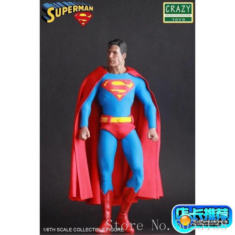 Crazy Toys DC Comics Super Hero Figure Justice League Superman Action Figure Toy Doll 30cmCrazy Toys DC Comics Super Hero Figure Justice League Superman Action Figure Toy Doll 30cm