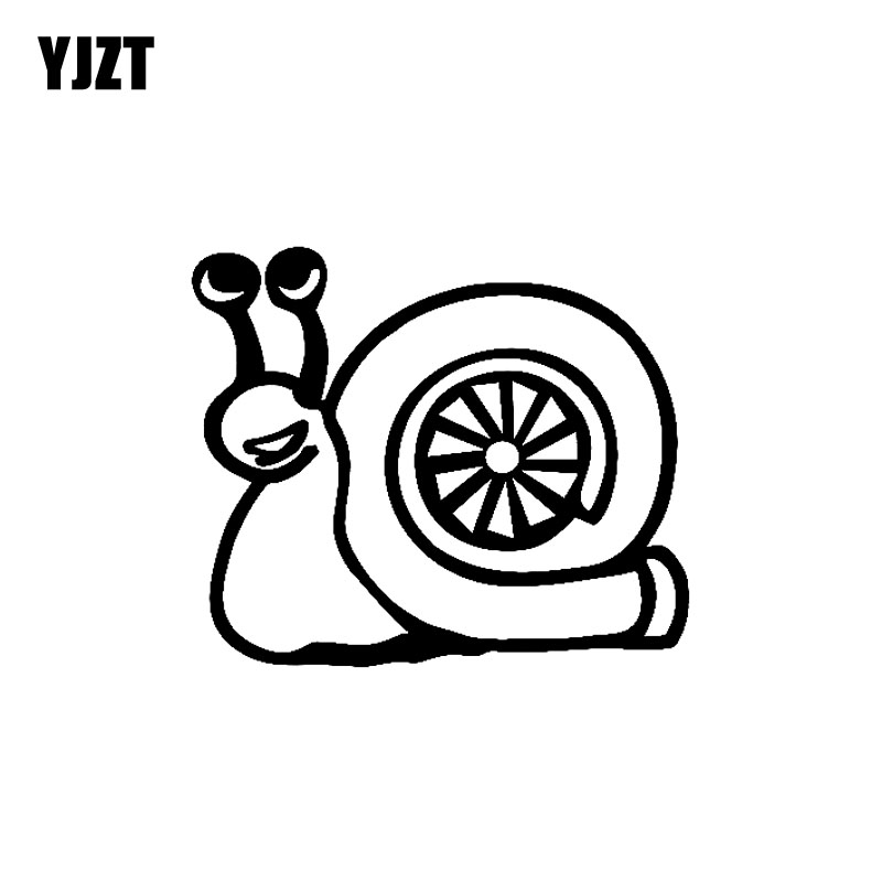 YJZT 14CM*11.9CM TURBO SNAIL Compressor Boost Turbocharger Car Sticker Vinyl Decals Black Silver C10-00980