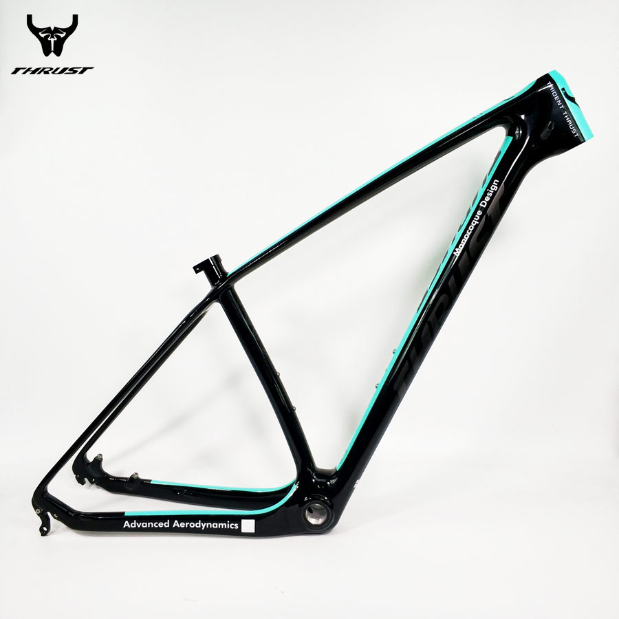 THRUST mtb Mountain Bike Frame Carbon Frame mtb 29er 27.5er 15 17 19 Carbon Bicycle Frame Green BB30 BSA 2017 mtb bicycle 29er carbon frame chinese mtb carbon frame 29er 27 5er carbon mountain bike frame 650b disc carbon mtb frame 29